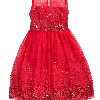 Ruby Rox Girls Dress, Girls Sequin Illusion Dress - Kids Girls 7-16 - Macy's