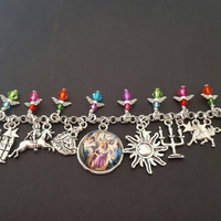 Disney tangled inspired charm bracelet
