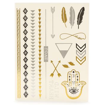 Sale-gold Metallic Tribal Tattoos