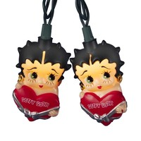 Kurt Adler UL 10-light Betty Boop with Heart Light Set