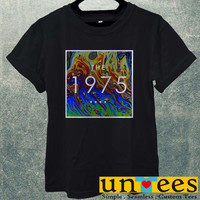 Low Price Men's Adult T-Shirt - RAinbow COlors The 1975 Band Logo design