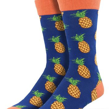 Pineapple Men's Crew Socks