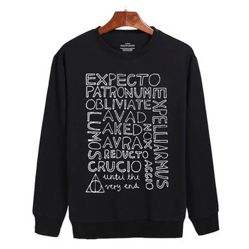 Harry Potter Expecto Patronum Sweater sweatshirt unisex adults size S-2XL