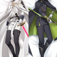 New Seraph of the End Anime Male Mikaela Hyakuya and Yuichiro Hyakuya Dakimakura Japanese Pillow Cover H2904