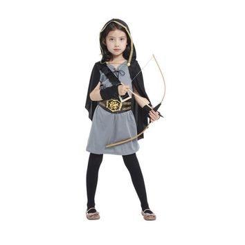 Pretty Girls Young Artemis The Powerful Greek Goddess Of The Hunt Child Mythical Forest Hooded Huntress Halloween Costume