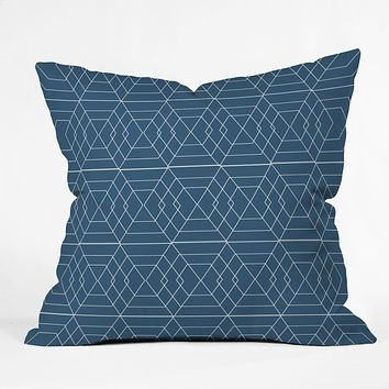Vy La Blue Hex Throw Pillow