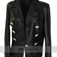 Kim Kardashian Paris Leather Jacket