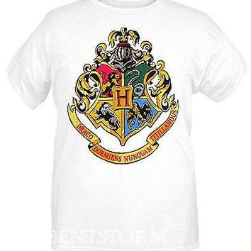 Licensed cool NEW Harry Potter And The Deathly Hallows Hogwarts Coat of Arms CREST T-Shirt XL