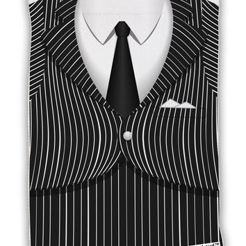 "Pinstripe Gangster Jacket Printed Costume Micro Terry Sport Towel 11""x8"" All Over Print"