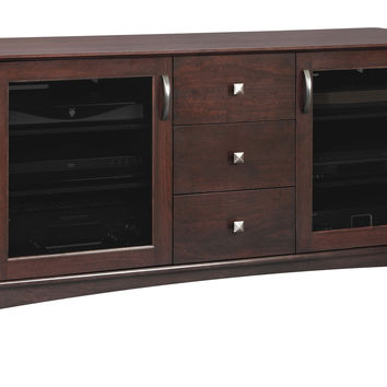 Norwalk 60w Solid Wood Media Console with Drawers - Photo Sample