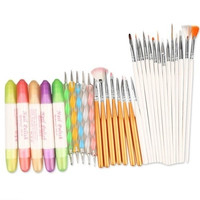 Fashioncity  32 in 1 Nail Art Design Set Dotting Painting Polish Brush Pen Tools = 1645438788