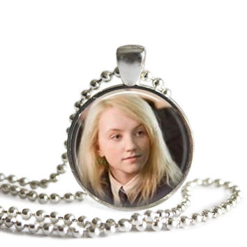 Luna Lovegood Necklace Silver Plated Harry Potter Picture Pendant