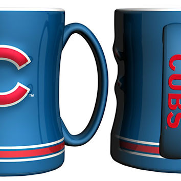 Chicago Cubs 3D Coffee Mug - 14oz Sculpted Relief