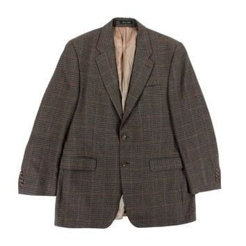 SALE Vintage Houndstooth Sport Coat - Blazer Jacket Wool Ralph Lauren Brown Preppy Ivy
