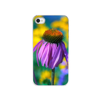 Purple Flower Case - iPhone Case 4 - 4S iPhone Case - IN STOCK