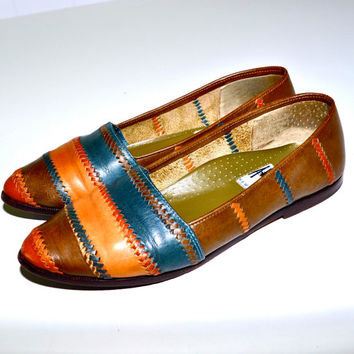 Make an Offer Brazilian BOHEMIAN LEATHER Slip On Leisure Loafers Flats Shoes Slippers Like Stubbs & Wootton sz 7.5