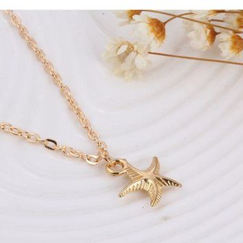 ONETOW Stellar necklace multi - layer clavicle chain bead necklace
