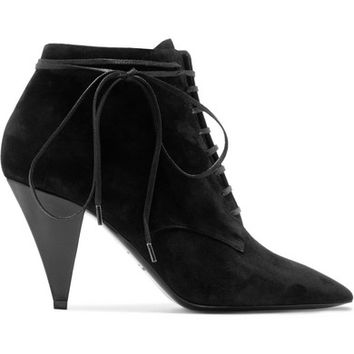 Saint Laurent - Era suede ankle boots