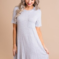 Warm Hearts Swing Dress (Grey)