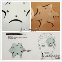6 Style in 1 pc Cosmetics Eyeshadow Cat Smokey Eye Stencils Eyebrow Stencil Shadow Models Template Urban Makeup Tools