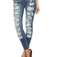 Almost Famous Distressed Denim Jeans