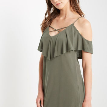 Spencer Cold Shoulder Swing Dress