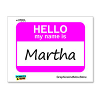 Martha Hello My Name Is Sticker