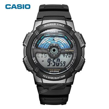 Digital Men Rubber Band Men Sports Watch Waterproof Swim Universe Time