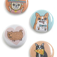 Puppy Party Pins | Mod Retro Vintage Buttons | ModCloth.com