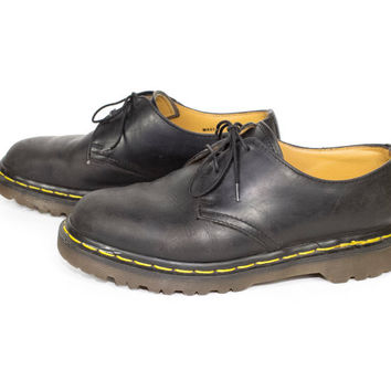 DR MARTENS 3 eye oxfords - made in england docs - black leather oxford - 37 eu - 4 uk - womens 6 us