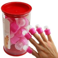 10PC wearable nail art soakers Ongle acrylic removal:Amazon:Beauty