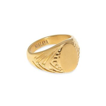 Women's Gold Signet Ring