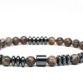 Jasper Gemstones Beaded Bracelet for Men and Women