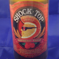 Shock Top Raspberry Wheat Beer Bottle 100% Soy Candle - Beer Scented