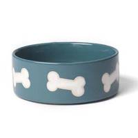 Stoneware Dog Bowl - Ocean Blue