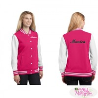 Personalized Baseball Letterman Jackets in All Colors at The Pink Monogram