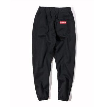 Supreme Drawstring Embroidery Cotton Pants Trousers Sweatpants