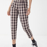 Urban Renewal Remnants Plaid Seersucker Pant | Urban Outfitters