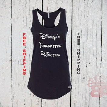 Disney's Forgotten Princess. Womens Racer Back Tank Top. FREE Shipping.
