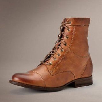 Frye Womens Erin Workboot Whiskey Soft Vintage Leather Boots 7.5 B - Medium