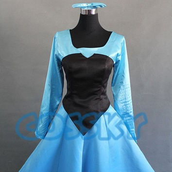 Disney Mermaid Princess Ariel Dress Cosplay Costume