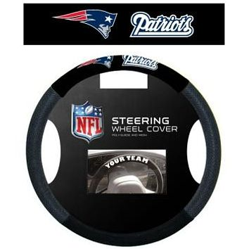 New England Patriots Steering Wheel Cover - Mesh