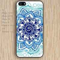 iPhone 4 5s 6 case cartoon blue white sea design flowers colorful phone case iphone case,ipod case,samsung galaxy case available plastic rubber case waterproof B654