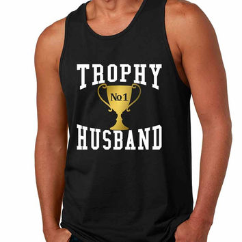 Men's Tank Top Trophy Husband Cool Xmas Love Family Gift Top
