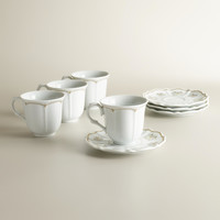 Downton Abbey Teacups and Saucers, Set of 4 - World Market