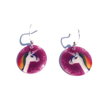 "An eclectic menagerie of all things we love here at Beijo Brasil! Small Resin Earrings are 0.75"" in size. These are a lightweight translucent resin product. Weatherproof; Partyproof; and proof that you know how to accesorize. Our earring wires are silver f"
