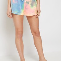 Rainbow Tie Dye Raw Edge Short | Active Shorts | rue21