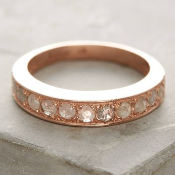 Rose-Cut Diamond Stacking Ring