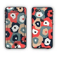 The Bulky Colorful Flowers Apple iPhone 6 Plus LifeProof Nuud Case Skin Set