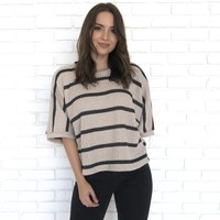 Block Party Sparkle Stripe Knit Sweater Top
